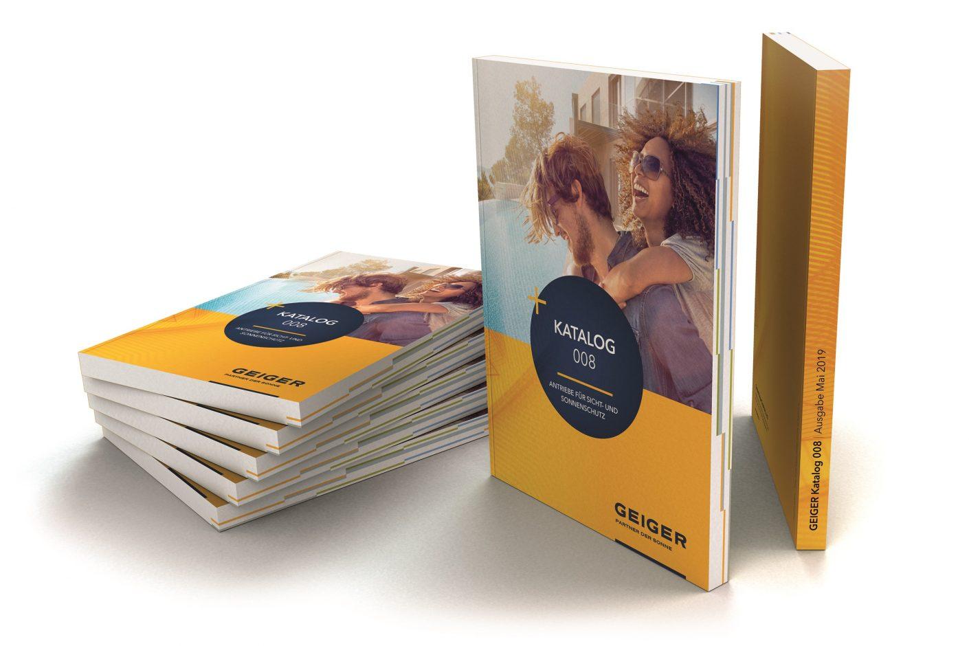 Der neue GEIGER-Katalog bietet einen schnellen Überblick über die elektrischen und mechanischen Antriebslösungen für Sonnenschutzsysteme. Bildquelle: GEIGER