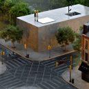 Die neue Kollektion Silestone® Loft (hier im Farbton Seaport) ist inspiriert vom urbanen Industrial Style. Die Produktion bei Cosentino erfolgt mit der besonders umweltfreundlichen HybriQ+ Technologie. Bildquelle: Cosentino