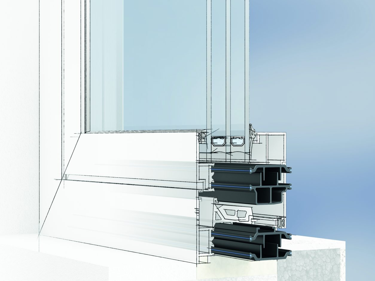 Creating a thermal break in the metal frame can be that simple: In the insulbar standard programme, Ensinger offers ready-made complete solutions with coordinated profile geometries in various insulation depths. Source: Ensinger