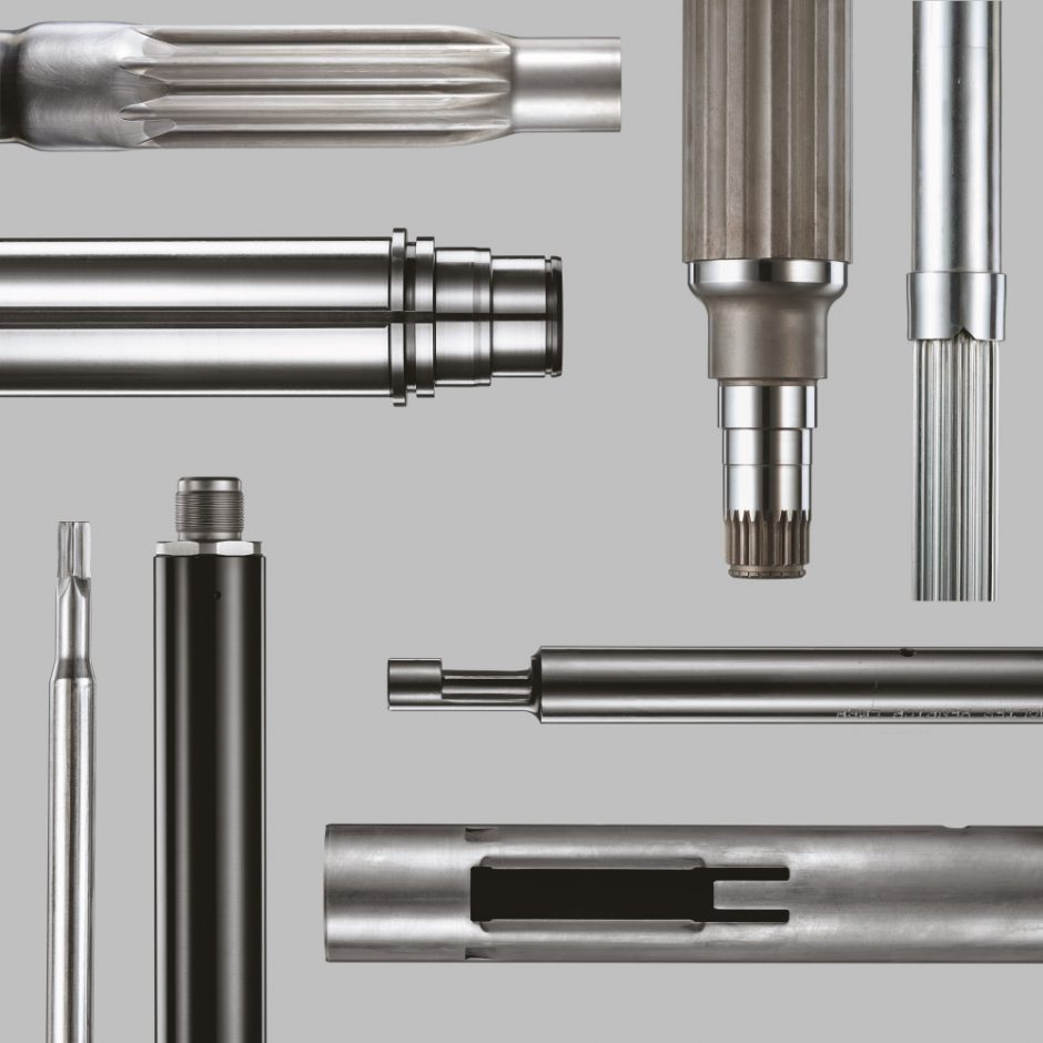 Together, Poppe + Potthoff GmbH and Walter Henrich GmbH are expanding the portfolio with a focus on e-mobility. Products manufactured include rotor shafts for e-drives, guide tubes for steer-ing columns as well as profiled tubes and lightweight tubular shafts. Source: Walter Henrich/Poppe + Potthoff