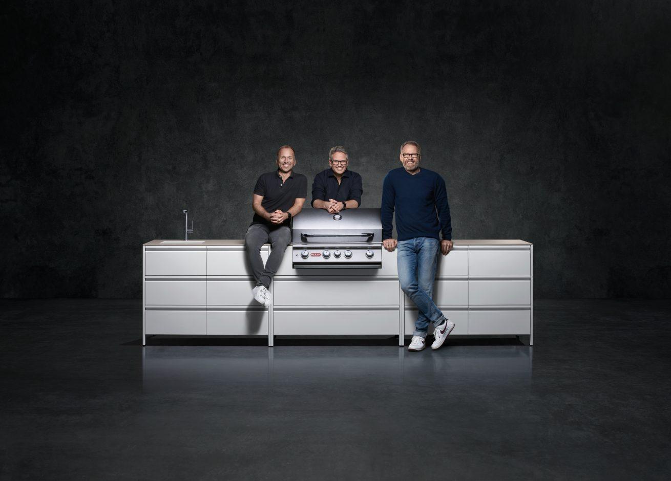 """Die Belmento-Gründer Volker Podendorf, Daniel Ackermann und Holger Schmieding brennen für funktionales Design beim """"Outdoor-Interior"""". Foto: Belmento"""